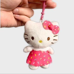 Hello Kitty Plush Dangler Keychain Pink Sprinkles